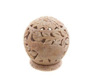 Brule Teelicht aus -stein Elefanten Peterandclo Indien 7620