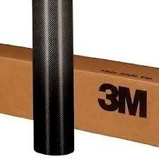 3M Genuine Scotchprint 1080 Carbon Fiber Fibre Vinyl Black -1520mm X 150mm
