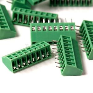 6-Pin 5PCS 2.54mm Pitch Panel PCB Mount Screw Terminal Block Connector MA