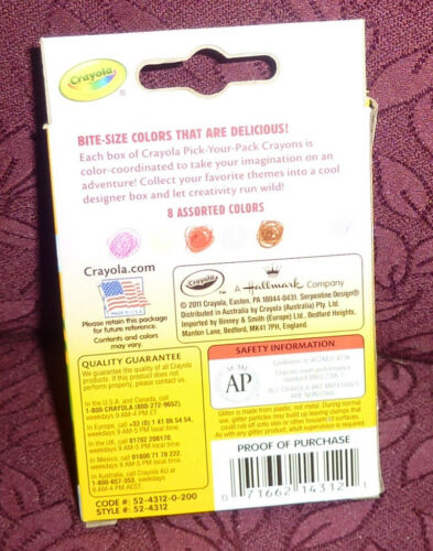 2011-2014 Crayola Crayons Target Exclusive Pick Your Pack 8 count box