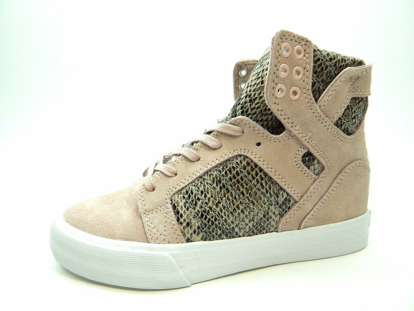 SUPRA SKYTOP WEDGE PINK BROWN WHITE SW08001 WOMEN SHOES SIZE 7 TO 9.5