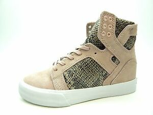 a29e876c6ec Image is loading SUPRA-SKYTOP-WEDGE-PINK-BROWN-WHITE-SW08001-WOMEN-