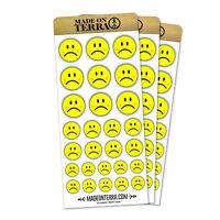 Sad Face Basic Removable Matte Sticker Sheets Set
