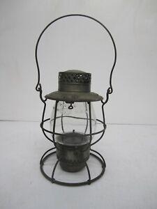 Vtg Dietz USA No. 39 Vulcan Railroad Kerosene Lantern Clear Glass Globe As Is