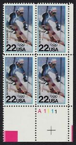 #2369 22c 1988 Invierno Olimpiadas, Plt Negro [A1111 LR ] Nuevo Cualquier 4=