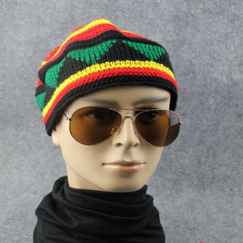 New fashion men knit beanie hat baggy Colorful slouchy warm skull caps