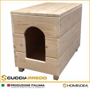 Casette Per Gatti Da Esterno.Cucciarredo Cuccia In Legno Per Cani E Gatti D Arredo Per Esterno E Interno Ebay