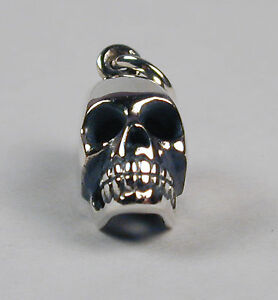 Sterling-Silver-SKULL-Charm-14mm-Free-Shipping-amp-Zipper-Pull