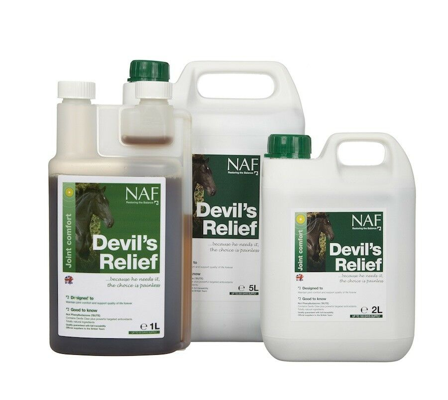 NAF Devil's Relief - Devils Claw 2lt - Horse Pony Feed Supplements