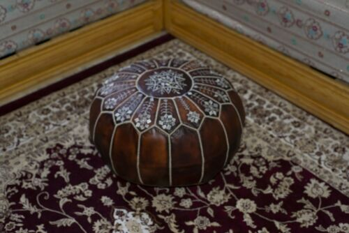 Authentic MOROCCAN **DHL** Free shipping POUF Leather Pouf Ottoman Pouffe footst