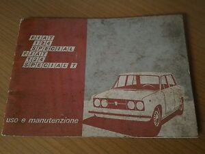 LIBRETTO USO MANUTENZIONE FIAT 124 SPECIAL E SPECIAL T 1971 - Italia - LIBRETTO USO MANUTENZIONE FIAT 124 SPECIAL E SPECIAL T 1971 - Italia