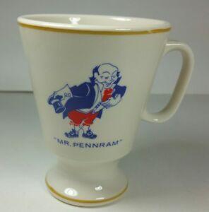 Vintage-Mr-Pennram-Coffee-Tea-Mug-Cup-1970s-Advertising-USA-R-26-Rare