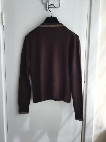 3 Unisexe brun V Ted Baker longue Pull Manche Taille col 04xqnEPYw