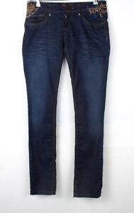DEISGUAL Women Slim Stretch Jeans Size W32 L36