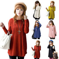 Loose Knitted Pullover Jumper Sweater Women Long Sleeve Knitwear Round Neck Top