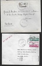 LEBANON 1930's-1960's SPECIALIZED COLLECTION OF 9 COVERS WITH 4 SCARCE TOWN CANC