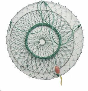 Fishing Foldable Mesh Baits Trap Umbrella Cast Dip Net Crab Shrimp Net Cage
