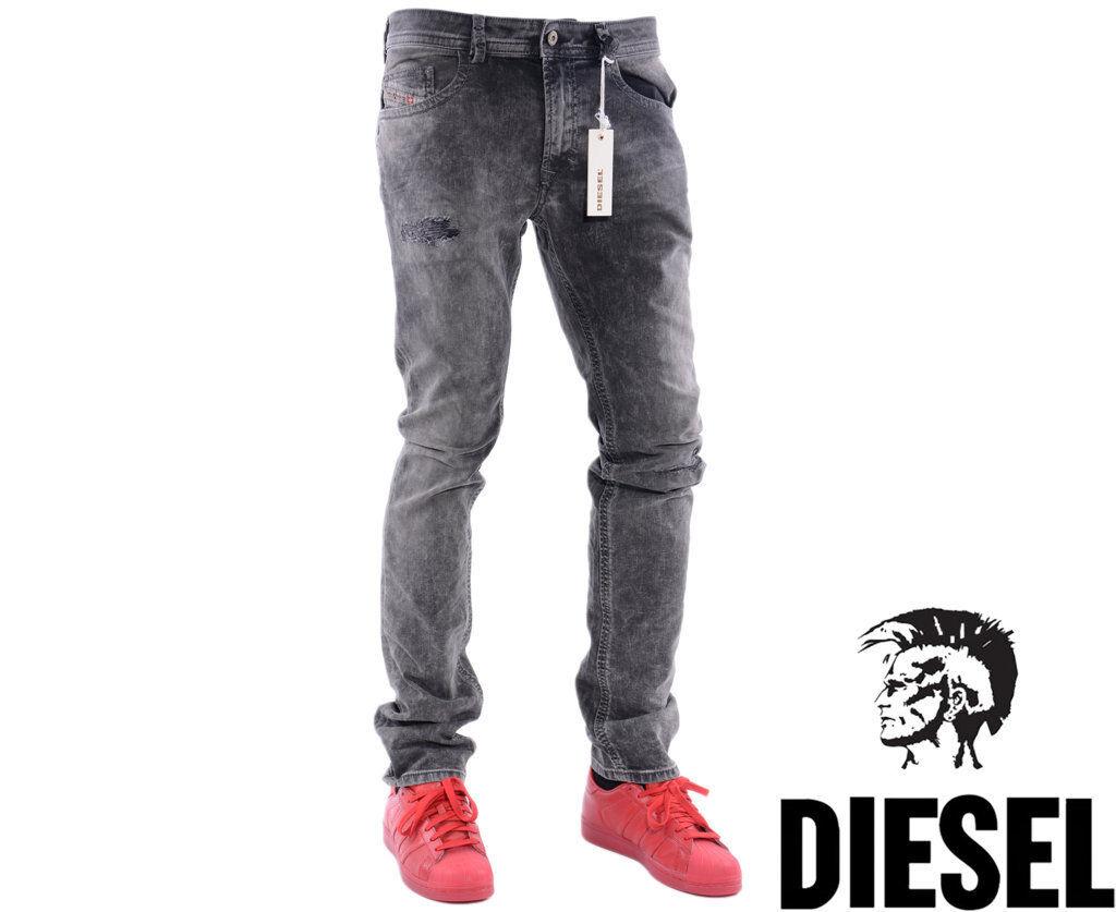 DIESEL THAVAR 0858M W32 L32 Mens Denim Jeans Regular Fit Straight