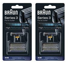 2-Packs 30B Braun Foil Cutter Shaver 4000 7000 Series 3 Syncro TriControl Combi