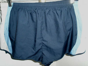 Men-039-s-Mizuno-Running-Shorts-Blue-and-Gray-Size-Extra-Large-XL-Excellent