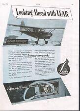 1945 Learadio Vintage RadioPrint Ad Stinson Voyager 125 Airplane