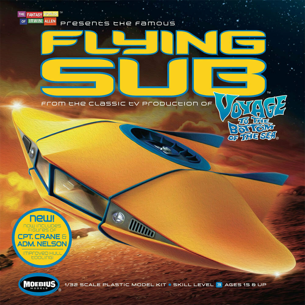 Moebius Voyage zum Meeresboden Flying Sub 1 32 Deluxe Model Model Model Kit 186MB03 9d2