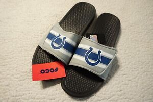 INDIANAPOLIS-COLTS-MEN-039-S-SLIDE-SANDALS-SIZE-XL-NFL-FOREVER-COLLECTIBLES