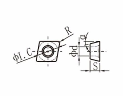 CCMT432//CCMT120408-MD Carbide Turning Inserts Grade PP6125//CVD Coating 10 pcs