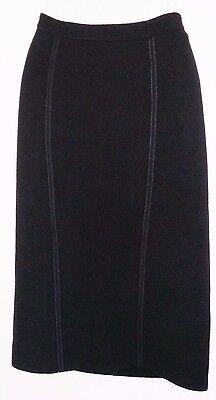 GIORGIO ARMANI Skirt - Wool Blend - Black - Made in Italy - 46 Euro / 14 (USA)