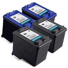 4PK HP 56 57 Ink Cartridge C6656AN C6657AN  PSC 1315 1210 1350 1110 1310 Printer
