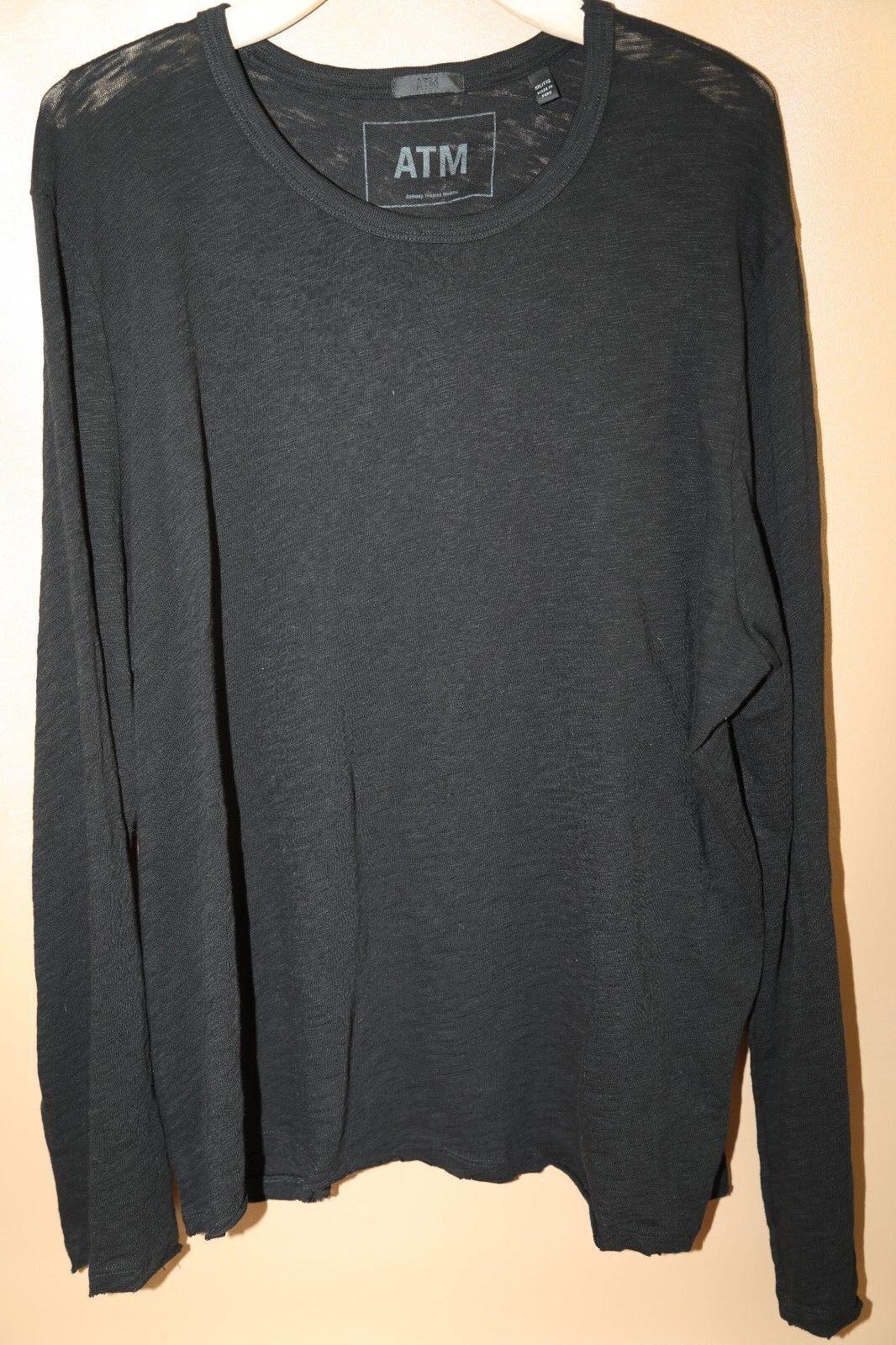 ATM ANTHONY THOMAS MELILLO Destroyed Long Sleeve T-Shirt XXL