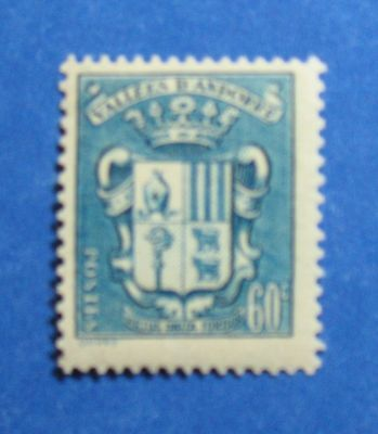 Symbol Of The Brand 1943 Andorra French 60c Scott# 76 Michel # 86 Unused Nh Cs27078 Up-To-Date Styling Europe