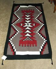 "Throw Rug Tapestry Southwest Western Hand Woven Wool 32x64"" Replica #321"