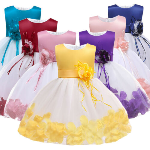 Baby Girl Christening Baptism Flowers Dress Wedding Party Birthday Dresses