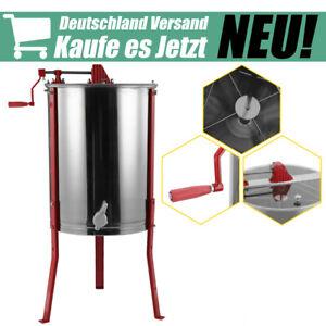 Top Manuelle Honigschleuder 4 Rahmen Waben Honig Imker Schleuder aus Edelstahl