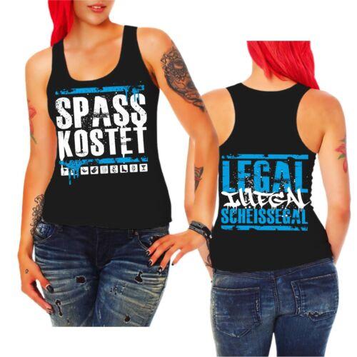 Frauen Trägershirt Top Spass kostet legal illegal scheissegal Marke Label Kult