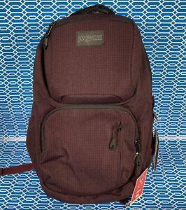 NWT-Jansport-Nova-Laptop-Backpack-Micro-Grid-Red-15-034-Laptop-bookbag