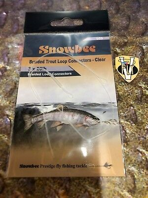 Agressief 3 Snowbee Stealth X Strong Clear Braided Loops For # 5-9 Trout Fly Lines