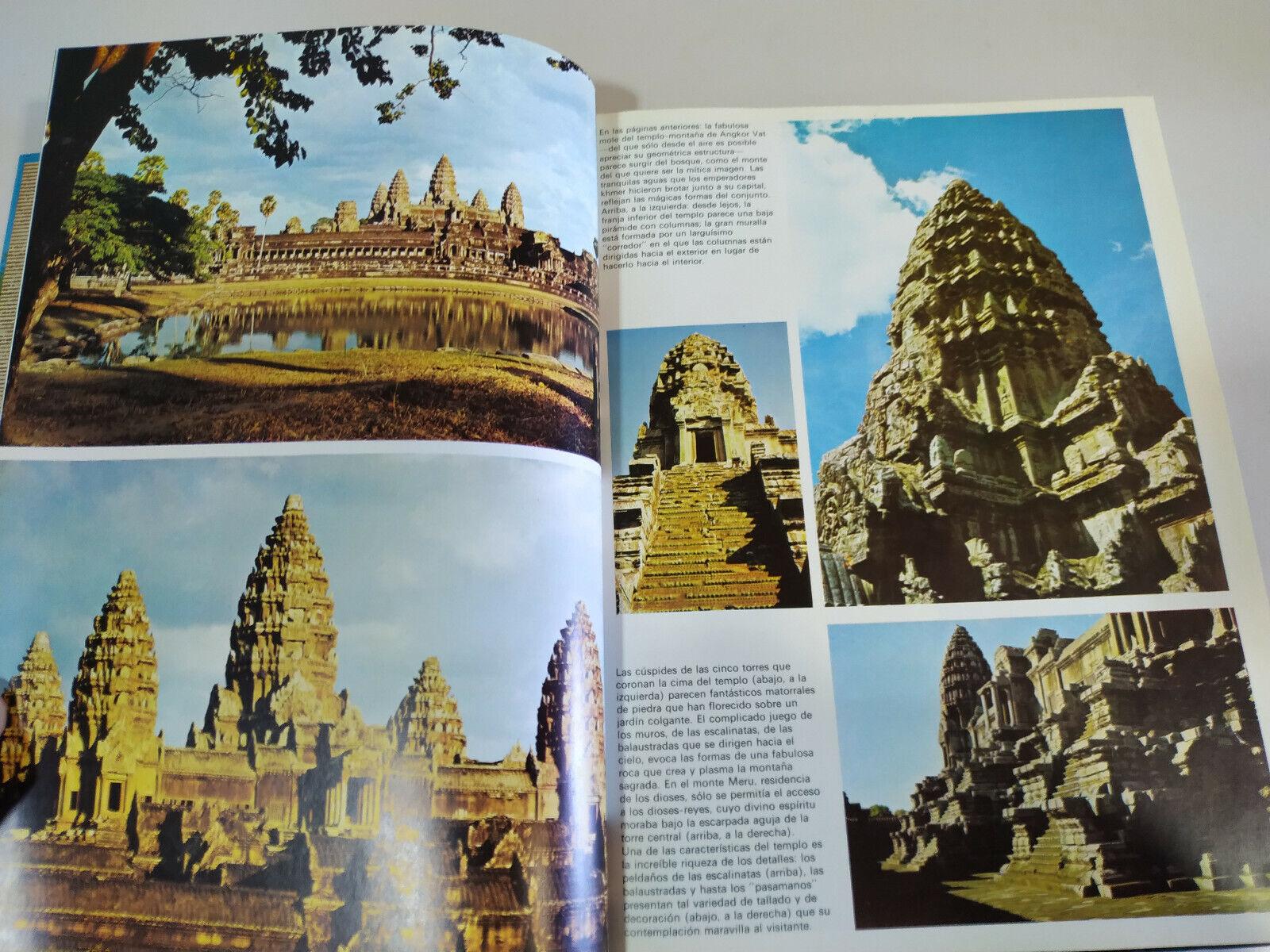 s l1600 - Maravillas del Mundo Angkor Vat Azay le Rideau Libro Tapa Dura Español