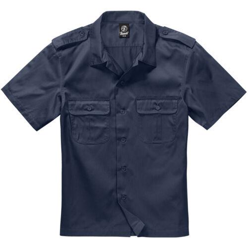 Brandit US Shirt 1//2 Short Sleeve Work Mens Army Uniform Summer Top Marine Navy