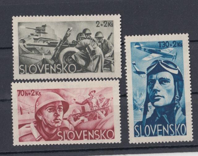 Slovakia 1943,Military surcharge,Nazi,MNH,plane,tank,battle,WWII