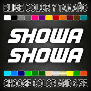 Vinilo-adhesivo-SHOWA-2-unidades-pegatina-aufkleber-logo-moto-car-decal