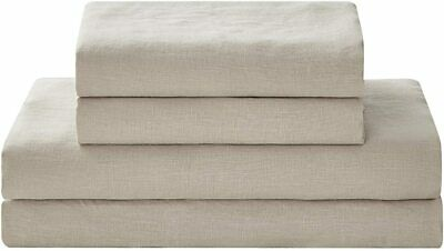 and Eco-Friendly Pure French L Details about  /YNM French Linen Sheet Set Skin-Friendly Cozy