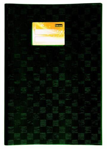 Hefthüllen DIN A4 10 Heftumschläge Baststruktur Farbe dunkelgrün