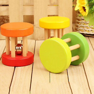 Natural-Wooden-Dumbells-Bell-Roller-Rat-Rabbit-Mouse-Play-Exercise-Kit-New