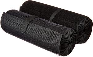 Black 6-Inch Ninepeak Hook /& Loop Fastening Tape 1 Yard