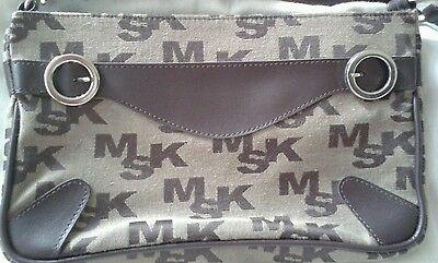 MISAKO Clutch Handtasche aus Spanien Braun Neu