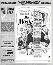 MR. MUSIC pressbook, Bing Crosby Nancy Olson,  Marx Brothers, Peggy Lee