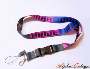 Bride-JDM-Purple-Lanyard-Key-chain-Fits-Toyota-Supra-GT86-Chaser-MR2-Celica-AE86