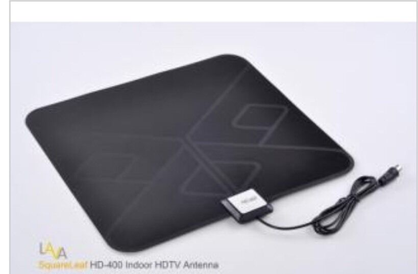 LAVA HD-400 Squareleaf Digital Indoor HDTV Amplified TV Antenna VHF UHF - 30 Db. Available Now for 34.49